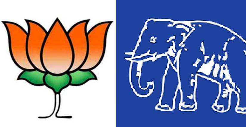 Image result for BSP and BJP logo